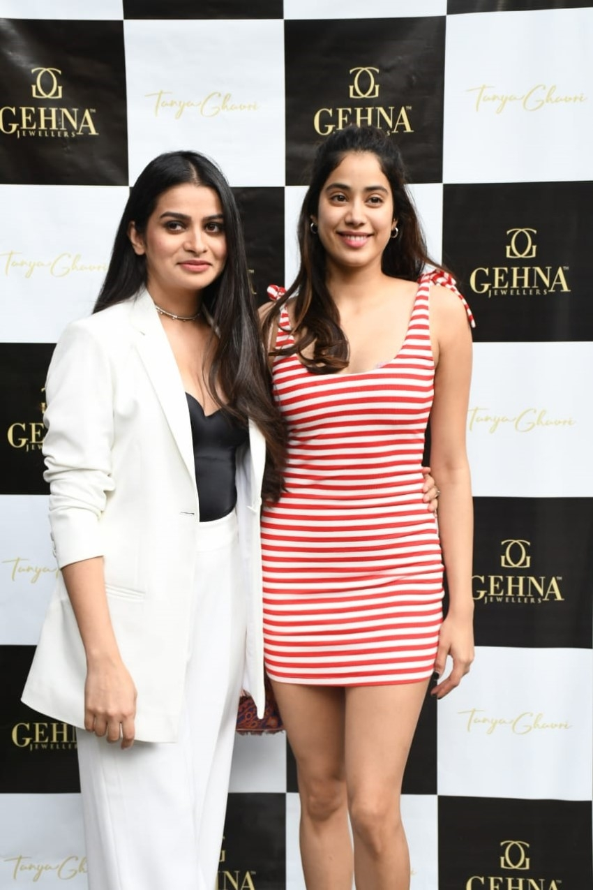 Janhvi Kapoor With Tanya Ghavri At Her Jewellery Launch Event Photos