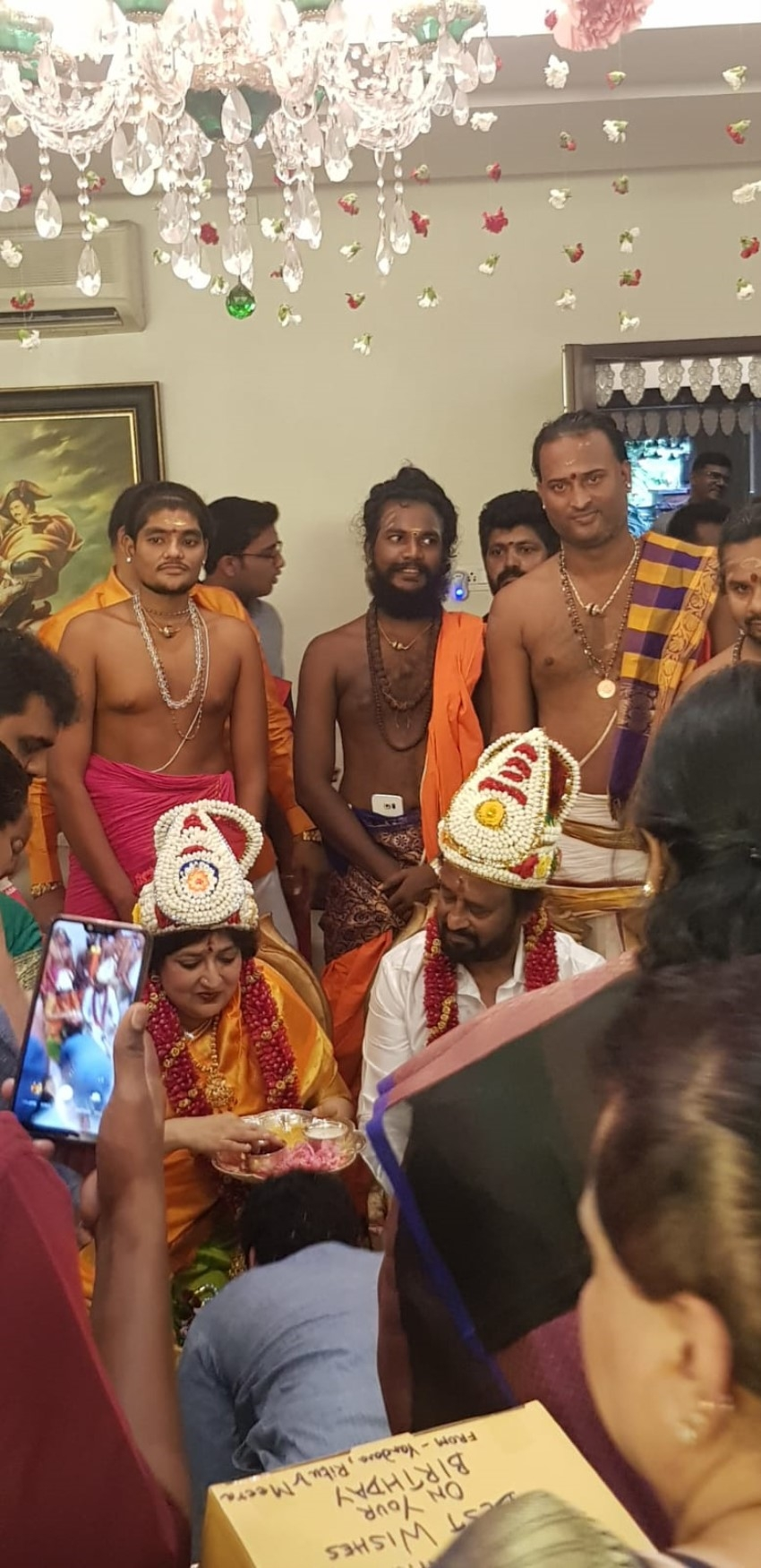 Rajinikanth celebrates 69th birthday in advance with a Poorthi puja Photos