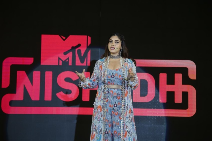 Bhumi Pednekar at the launch of MTV Nishedh Photos