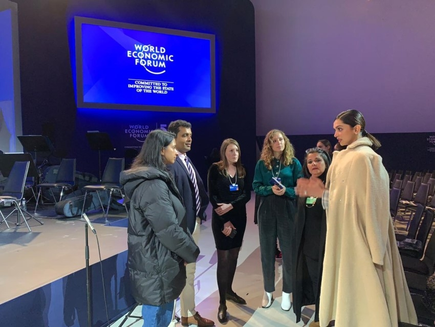 Deepika Padukone spotted at the rehearsals for World Economic Forum Crystal Awards Photos