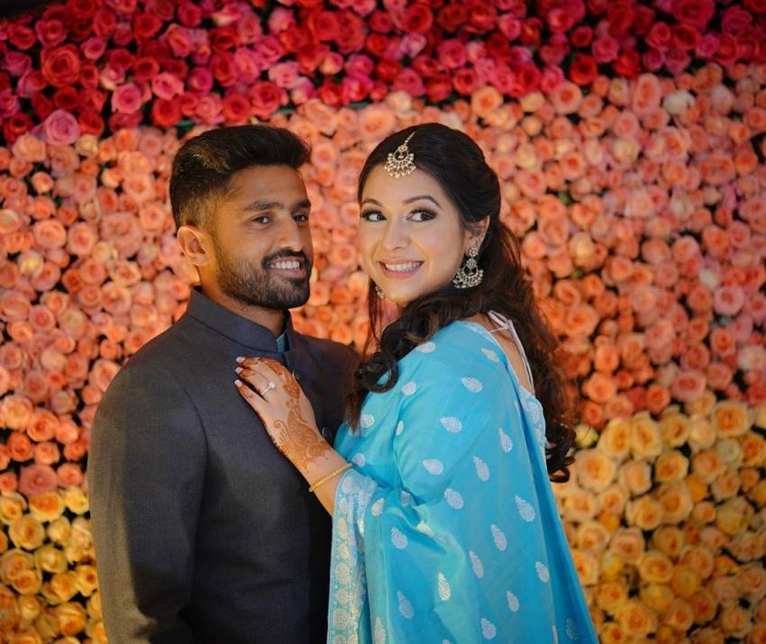 Indian cricketer Karun Nair Weds Sanaya Tankariwala Photos
