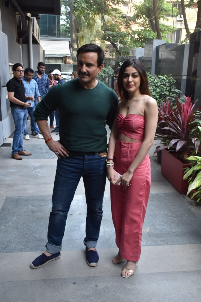 Saif Ali Khan and Alaya Furniturewalla snapped promoting 'Jawaani Jaaneman'in Mumbai Photos