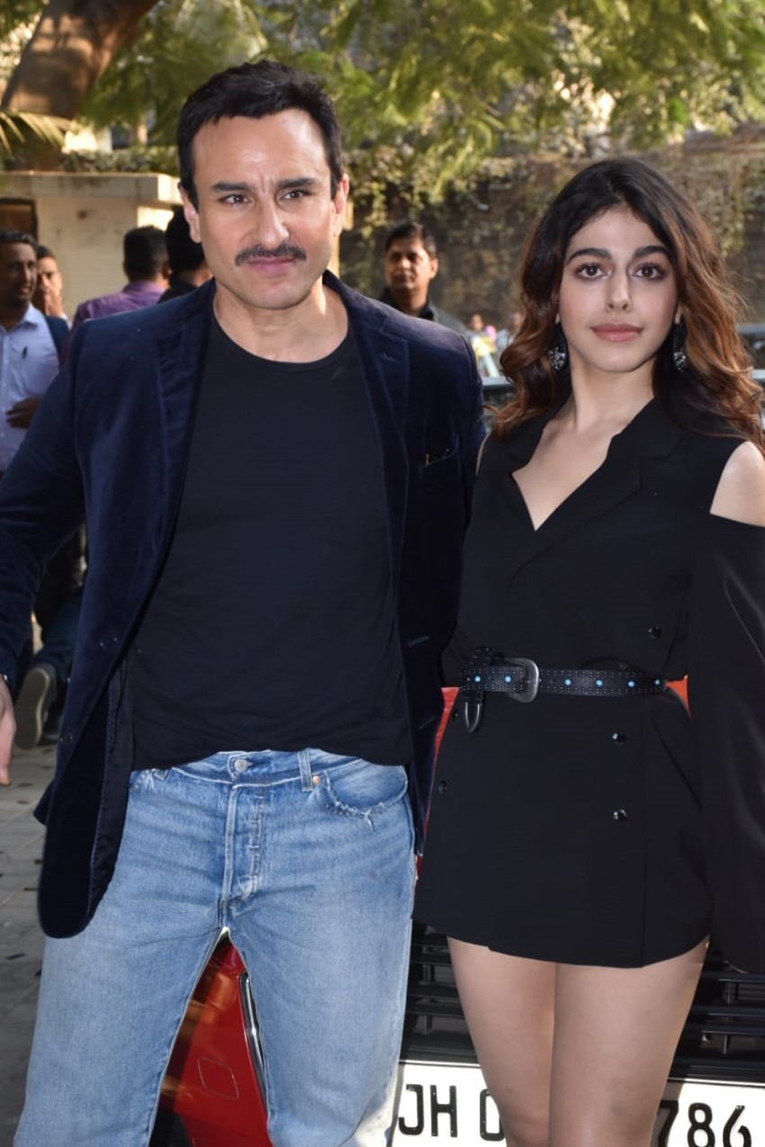 Saif Ali Khan & Alaya F at the song launch of 'Gallan Kardi' from their film 'Jawaani Jaaneman' Photos