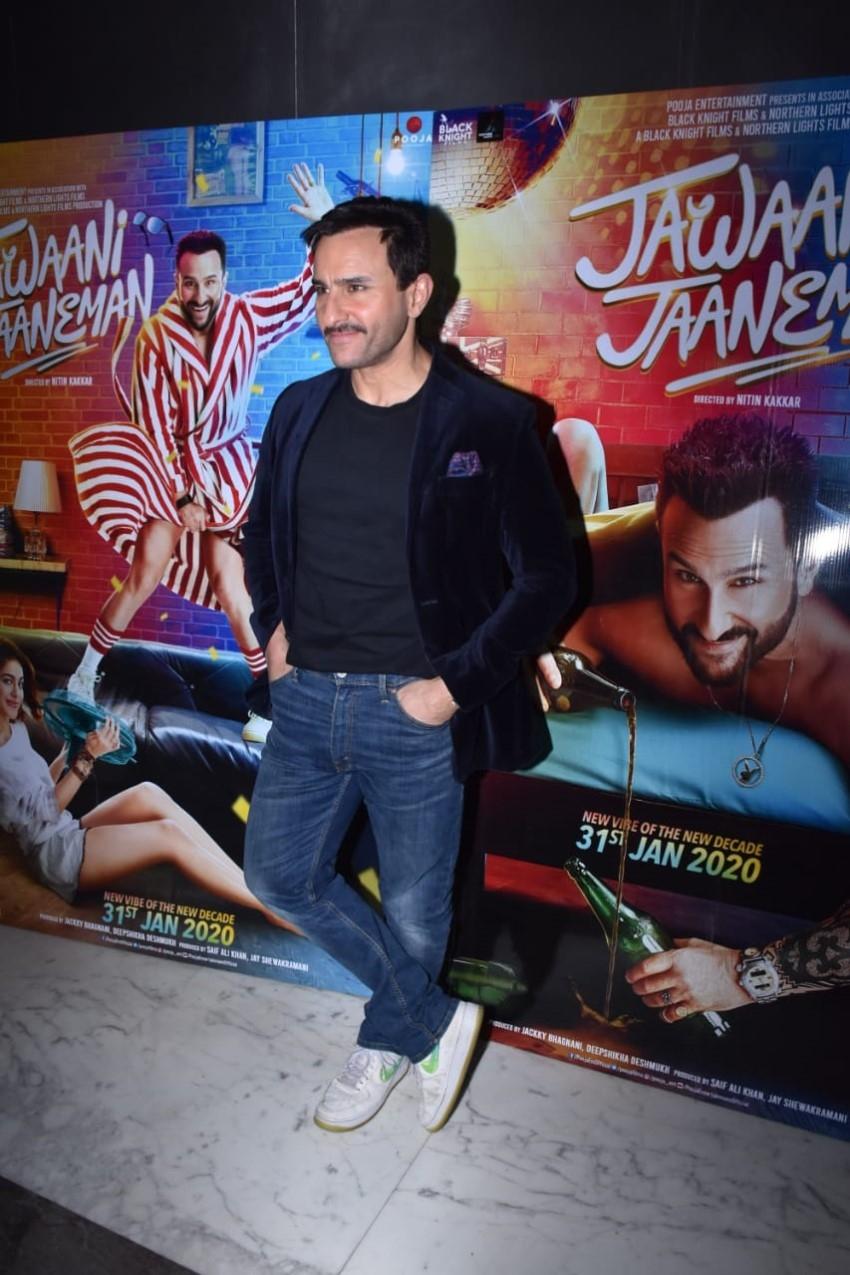 Saif Ali Khan snapped promoting 'Jawaani Jaaneman' in Mumbai Photos