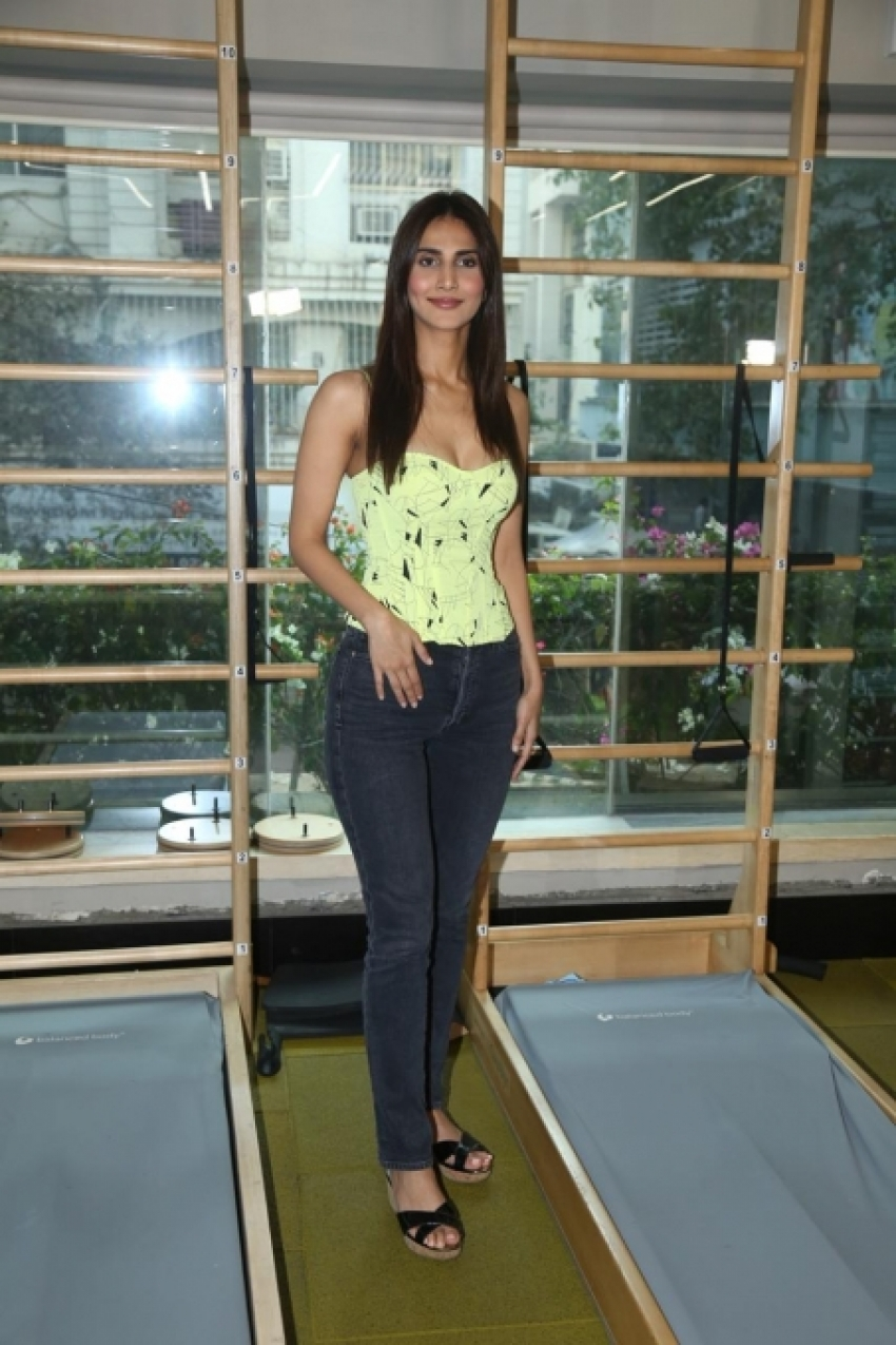 Vaani Kapoor During A Fitness Event In Mumbai Photos