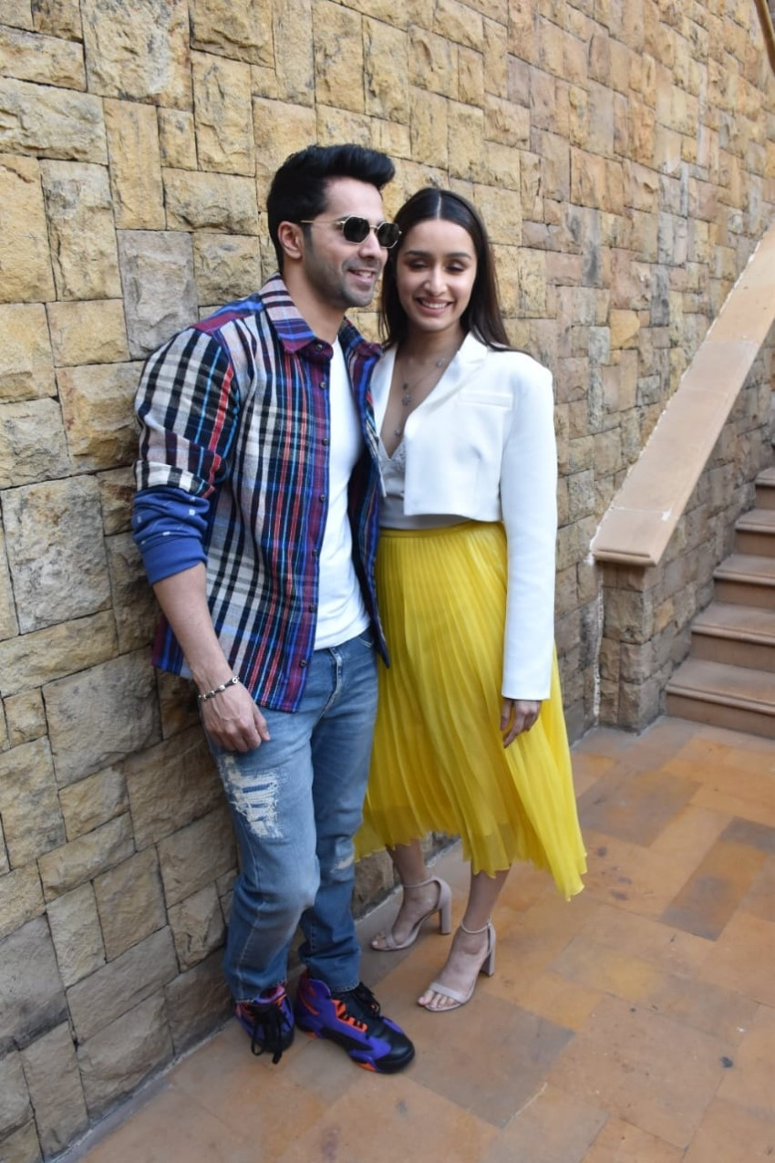 Varun Dhawan & Shraddha Kapoor snapped promoting 'Street Dancer 3D' in Mumbai Photos