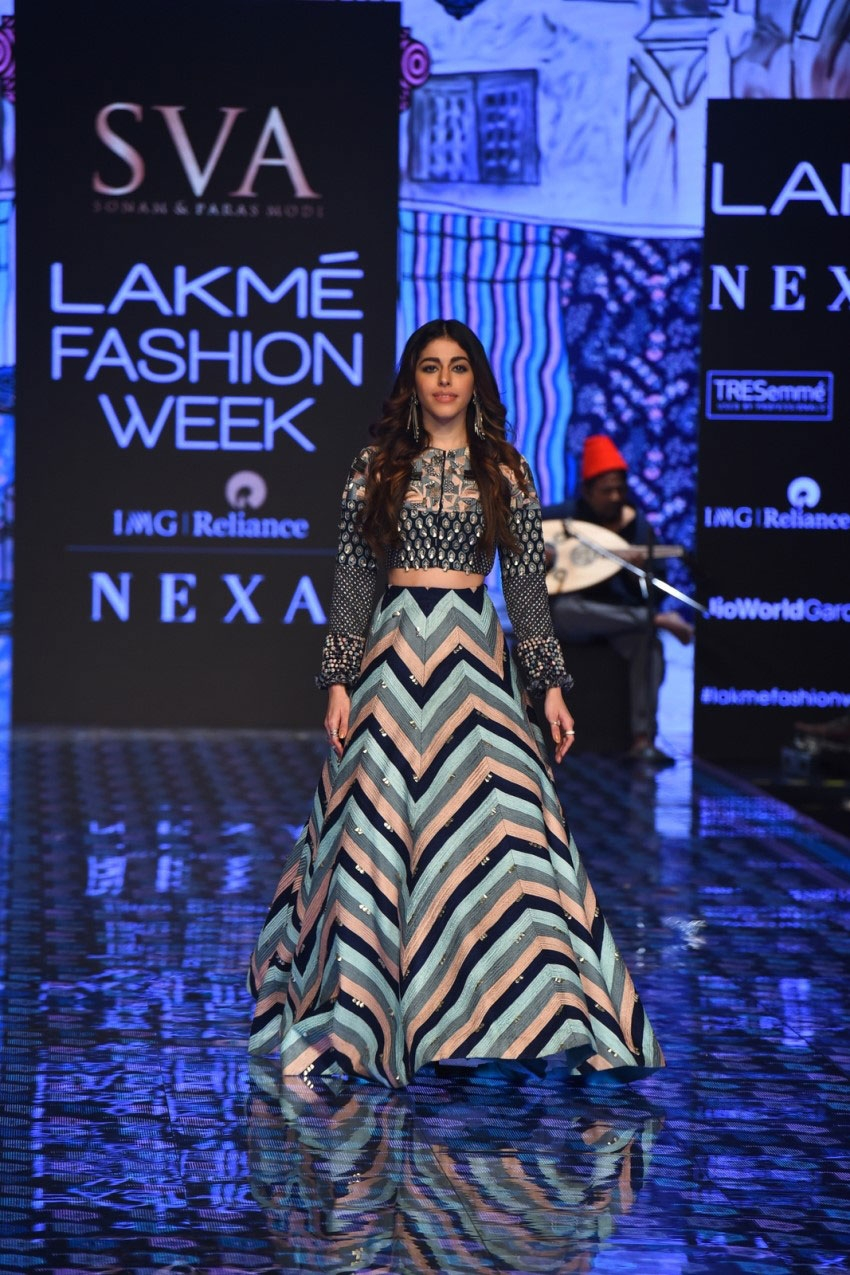 Alaya F walks the Ramp at Lakme Fashion Week 2020 Photos