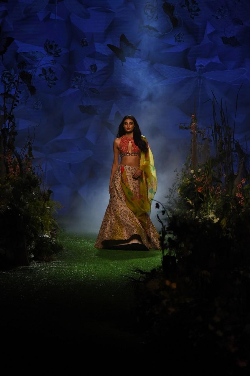 Athiya Shetty walks the Ramp at Lakme Fashion Week 2020 Photos