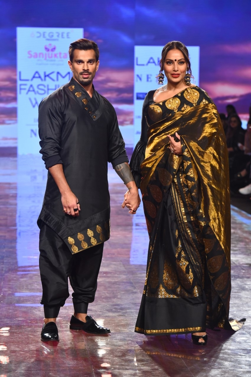 Bipasha Basu & Karan Singh Grover walks the Ramp at Lakme Fashion Week 2020 Photos