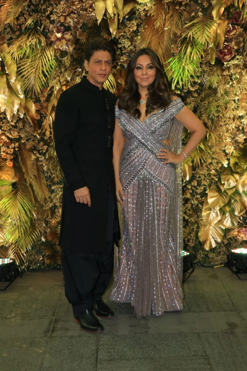 Celebs Grace Armaan Jain and Anissa Malhotra's Wedding Reception Photos