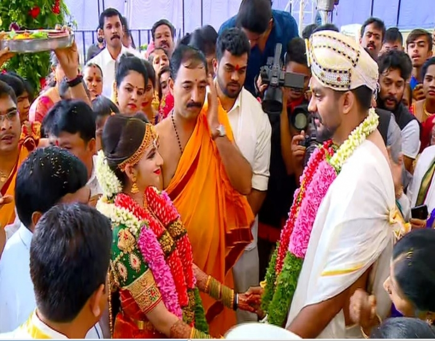 Chandan Shetty & Niveditha Gowda Wedding Photos