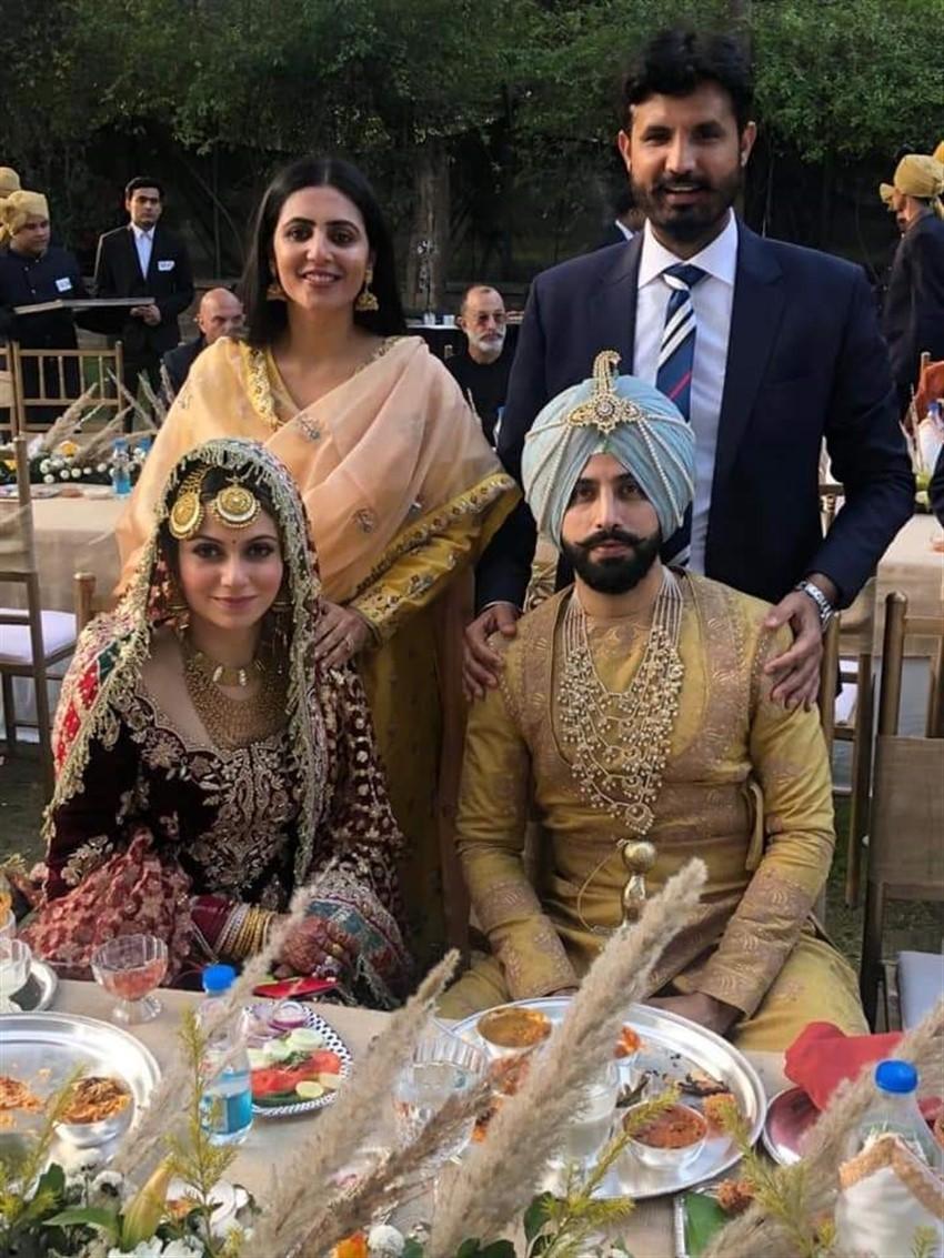 Gurdas Maan's son Gurickk And Actress Simran Kaur Wedding Photos