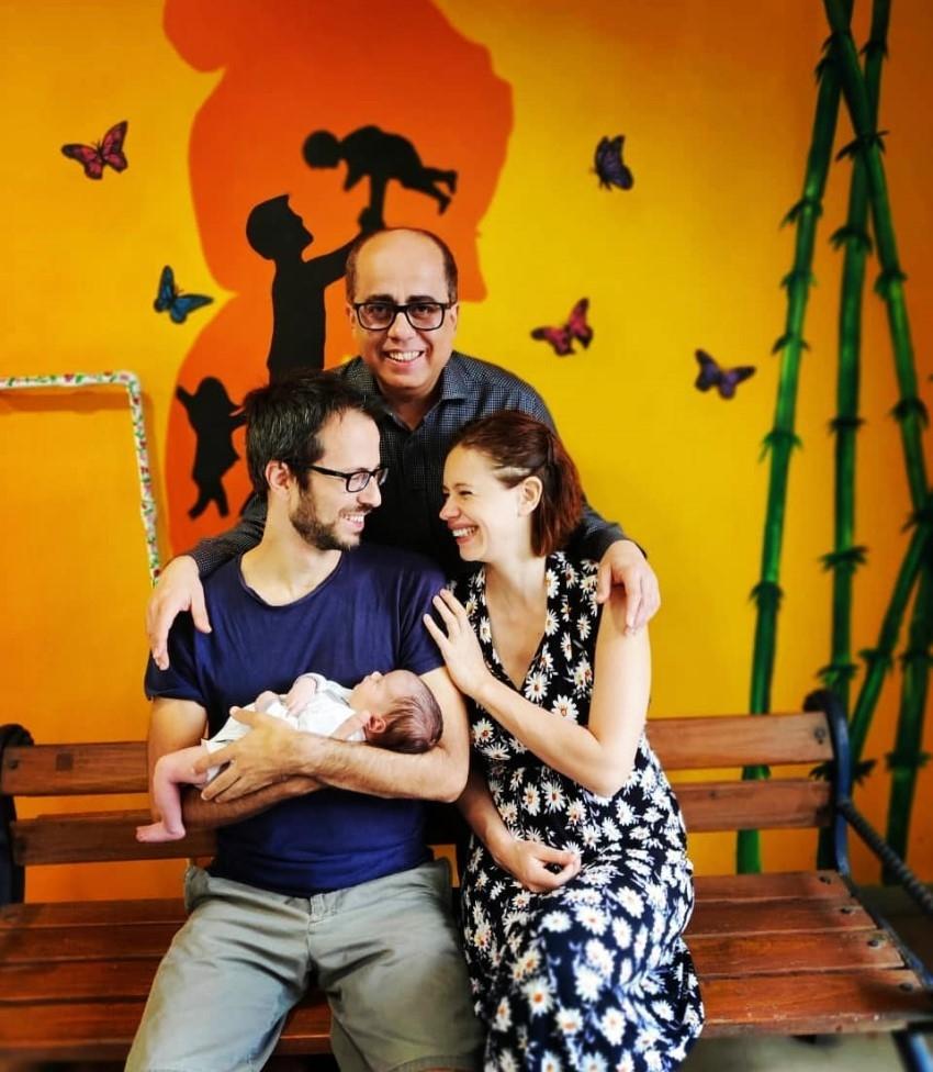 Kalki Koechlin with baby girl 'Sappho' & Family Photos