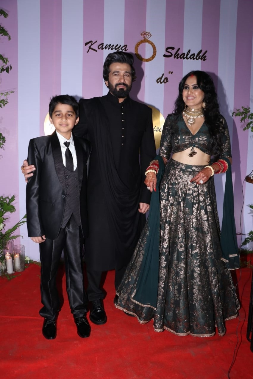 Kamya Punjabi & Shalabh Dang's Wedding Reception Photos