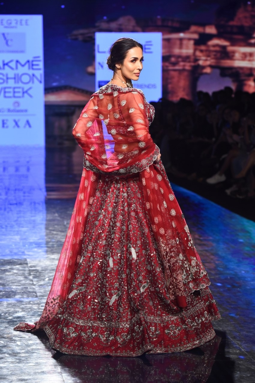 Malaika Arora walks the Ramp at Lakme Fashion Week 2020 Photos