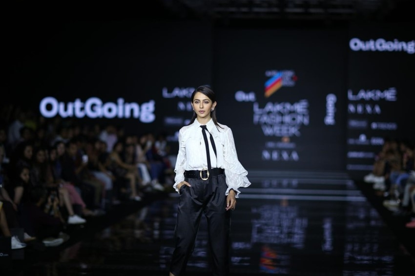 Rakul Preet Singh walks the Ramp at Lakme Fashion Week 2020 Photos