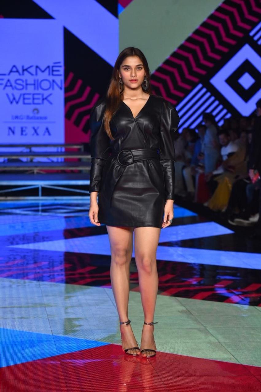 Saiee Manjrekar walks the Ramp at Lakme Fashion Week 2020 Photos