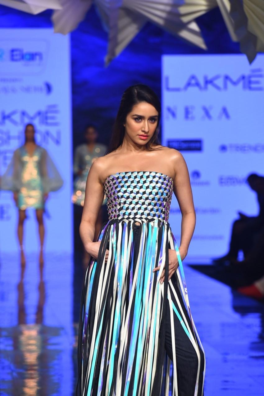 Shraddha Kapoor walks the Ramp at Lakme Fashion Week 2020 Photos