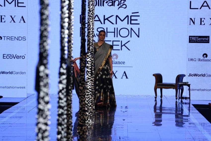 Tabu walks the Ramp at Lakme Fashion Week 2020 Photos