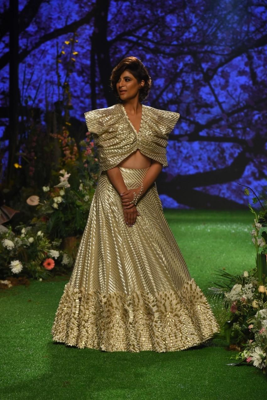 Tahira Kashyap walks the Ramp at Lakme Fashion Week 2020 Photos