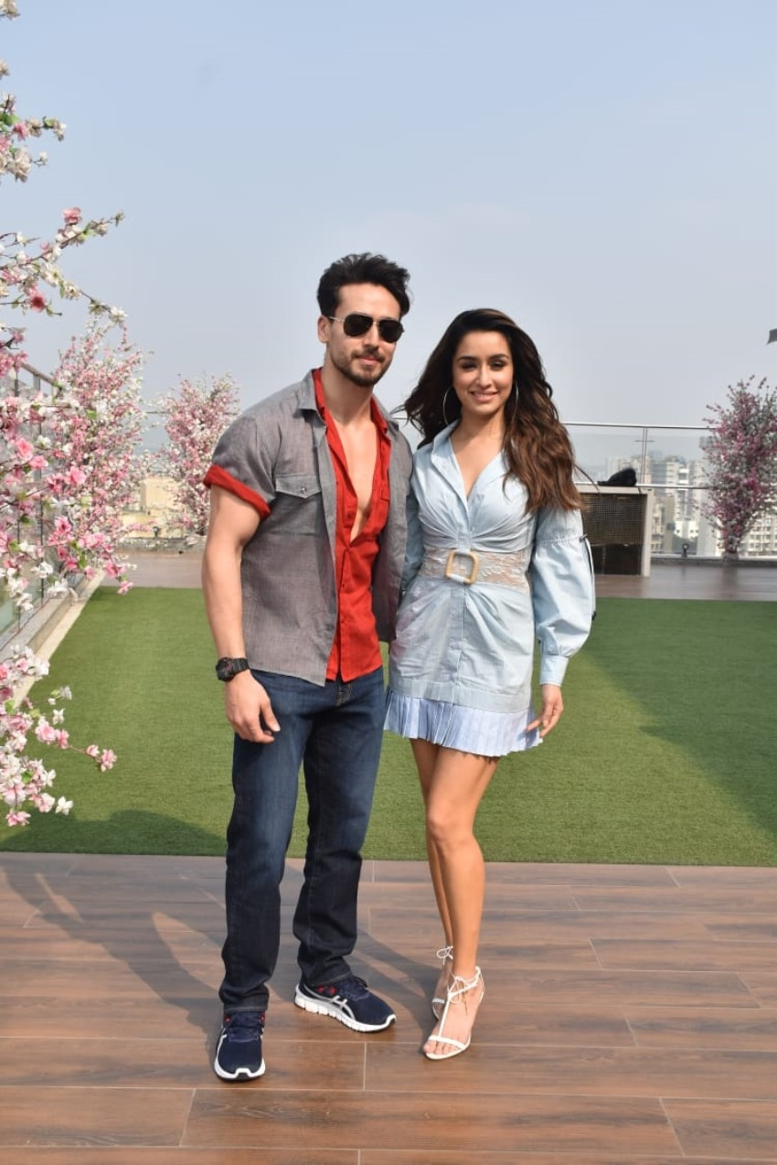 Tiger Shroff & Shraddha Kapoor snapped promoting 'Baaghi 3' in Mumbai Photos