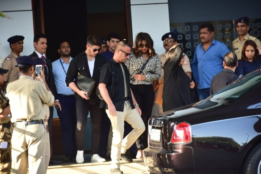 Priyanka Chopra and Nick Jonas at Mumbai's Private Kalina Airport Photos