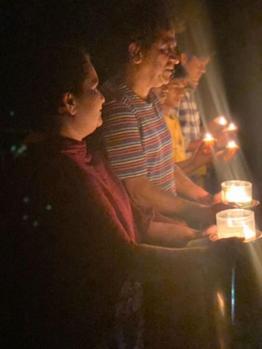 Celebs Light Up Diya, Candles & Mobile Torch 9 Minutes For India Against Coronovirus Fight Photos