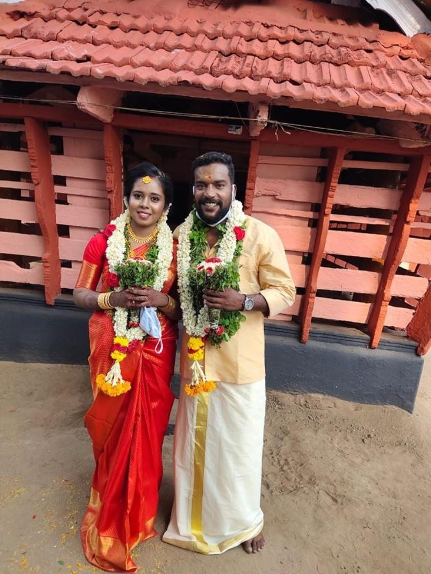 Manikandan Achari And Anjali Marriage Photos
