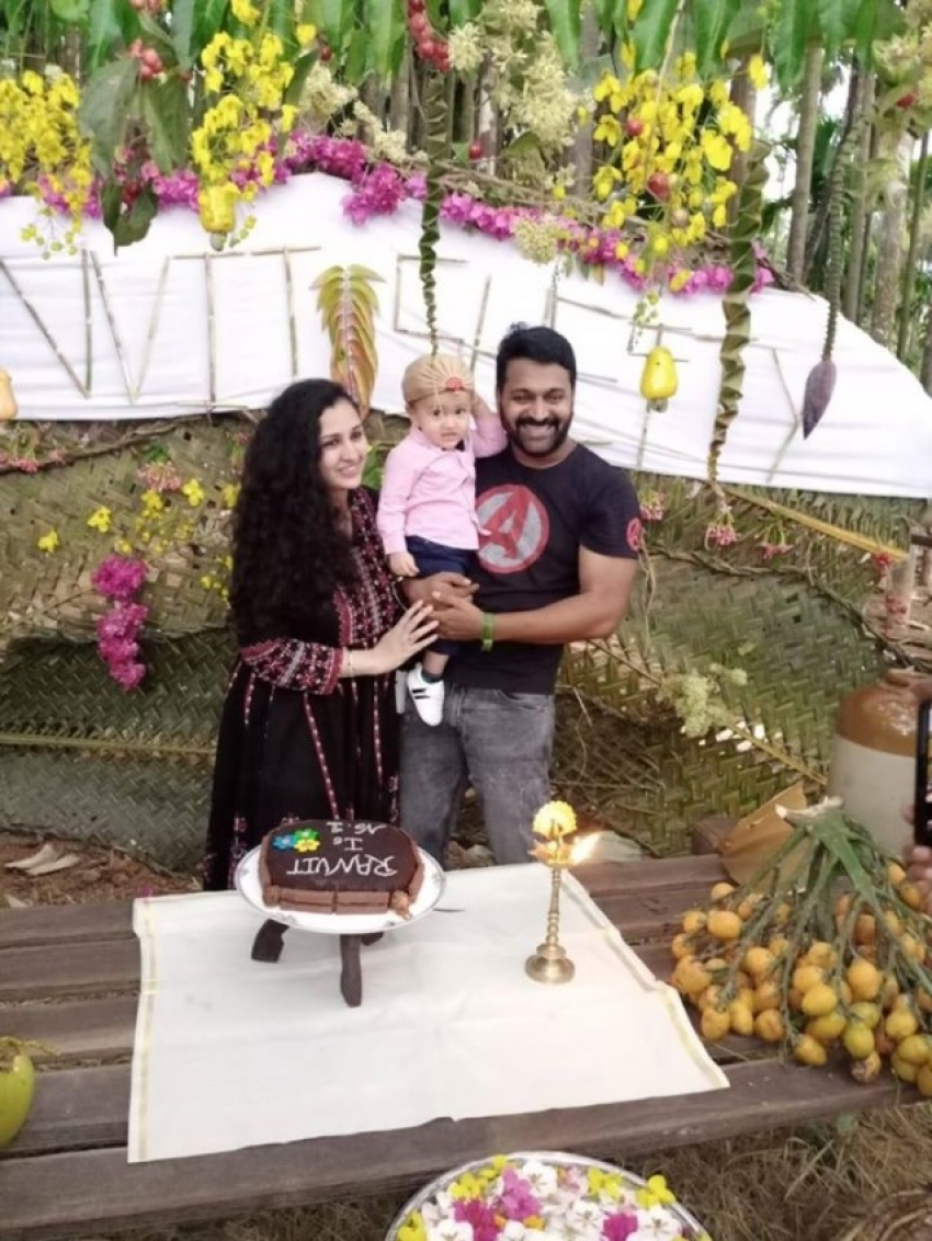 Rishab Shetty Son Ranvit Shetty First Birthday Celebration Photos