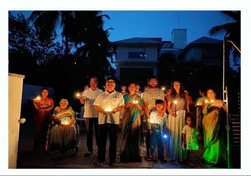 Telugu Actors Lit The Ray Of Hope To Fight Against Corona Virus Photos