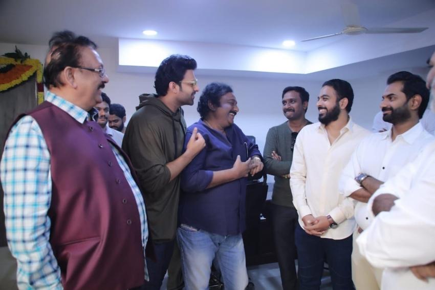 Prabhas And Pooja Hegde  Upcoming Movie muhurth Photos