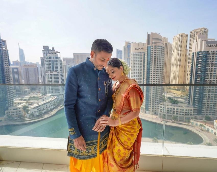 Sonalee Kulkarni And Kunal Benodekar Enagement Photos