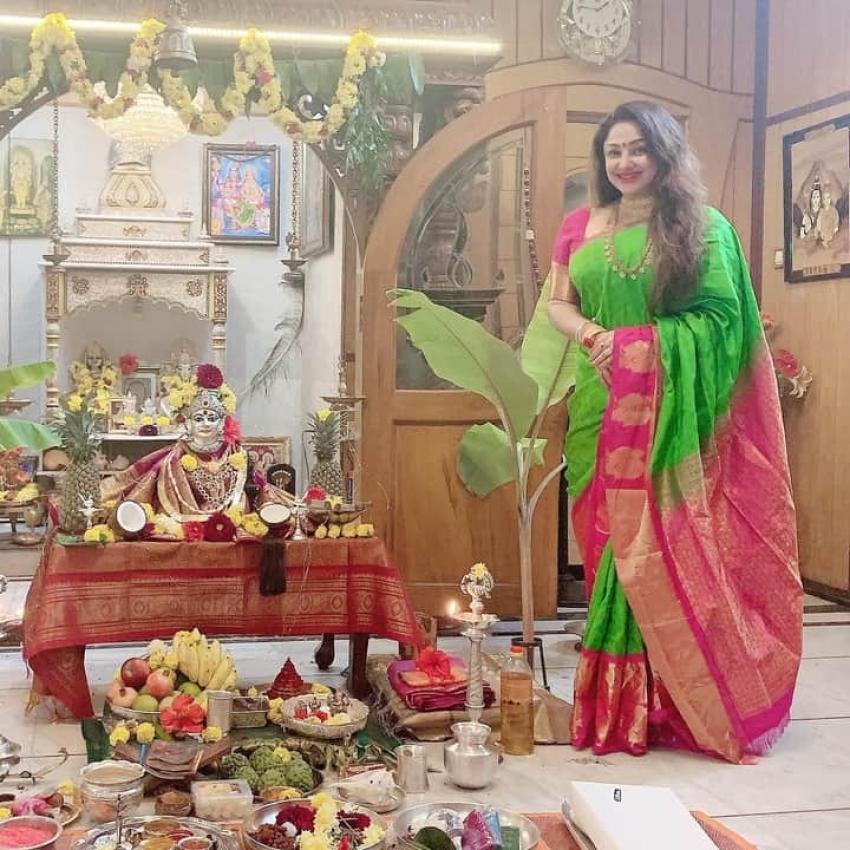 Priyanka Upendra 2020 Varamahalaxmi Festival Celebration Photos