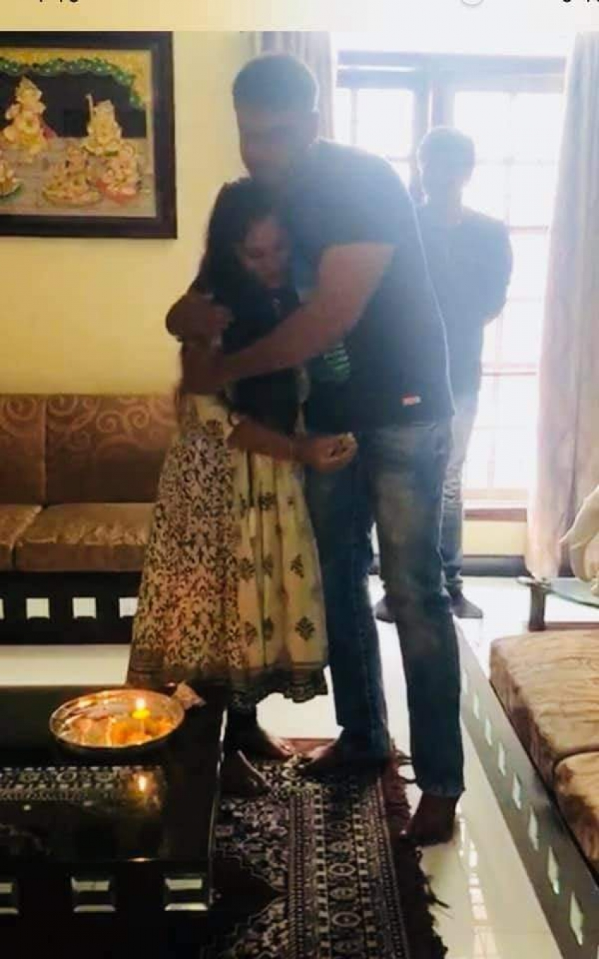 Darshan Celebrates Rakhi with his Friends Wife Photos