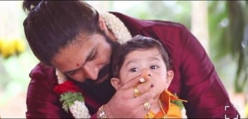 Rocking Star Yash & Radhikapandit Name thier son YatharvYash Photos