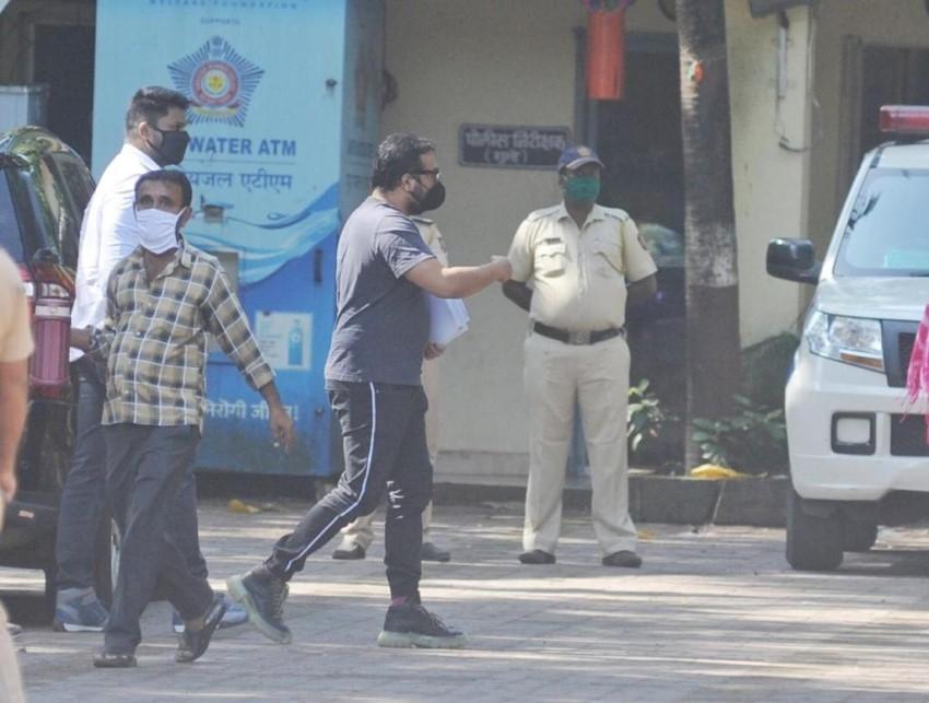 Anurag Kashyap at  Versova Police Station Photos