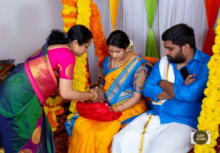 Film Director Pavan Wadeyar Wife Apeksha Purohit Baby Shower Ceremony Photos