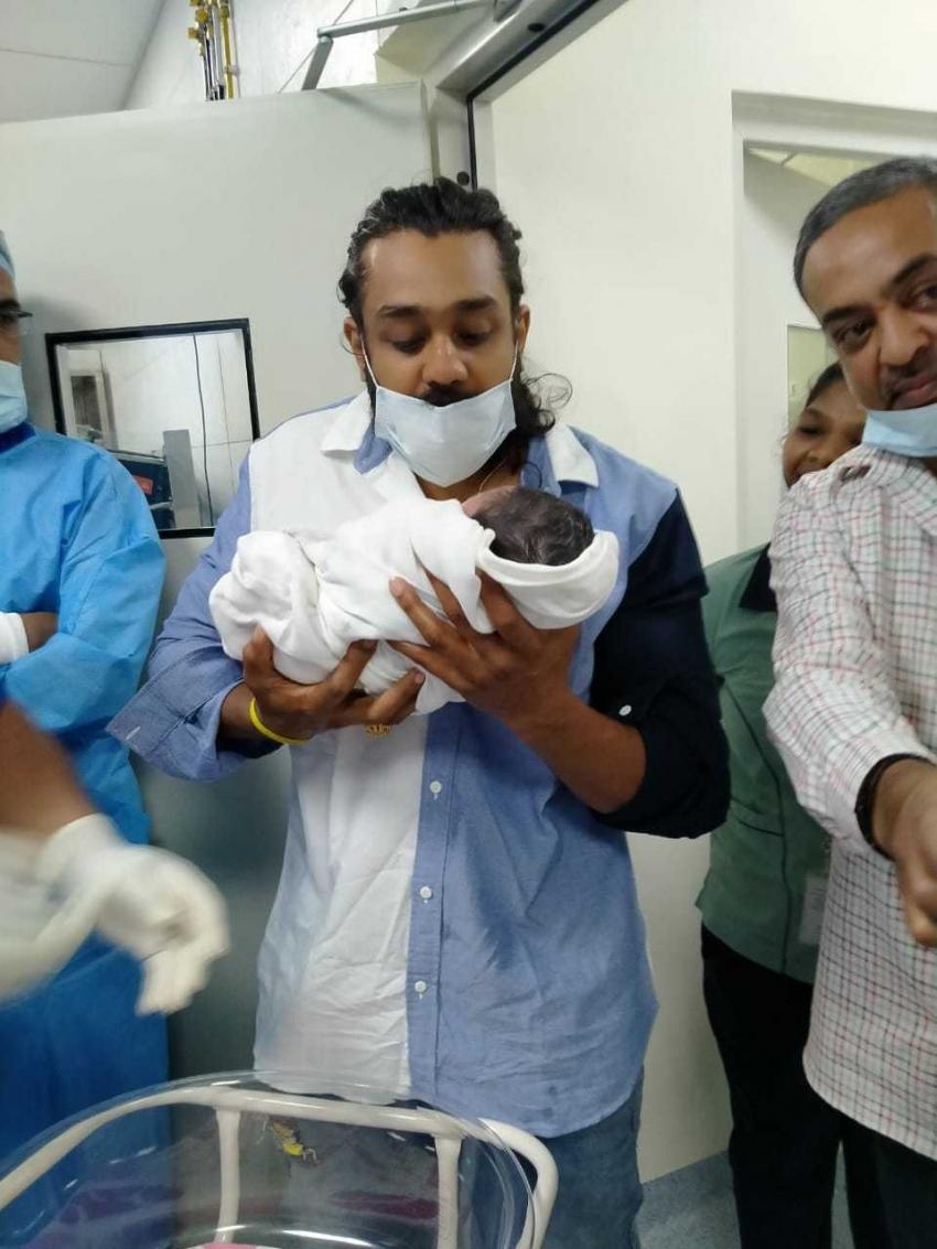 Meghana Raj Gives Birth To Baby Boy Photos