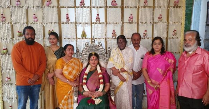 Meghana Raj Srimantha Function At her Residence Photos