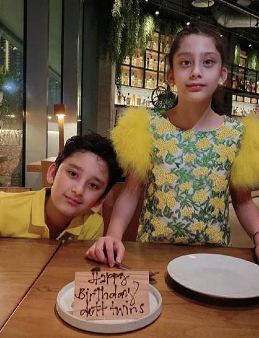 Sanjay Dutt Celebrates Twins' Birthday virtually Photos