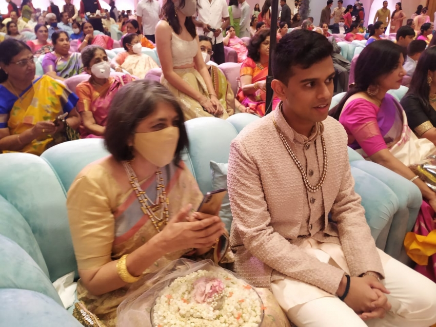 DK Shivakumar's Daughter And CCD Founder VG Siddhartha's Son Engagement Photos