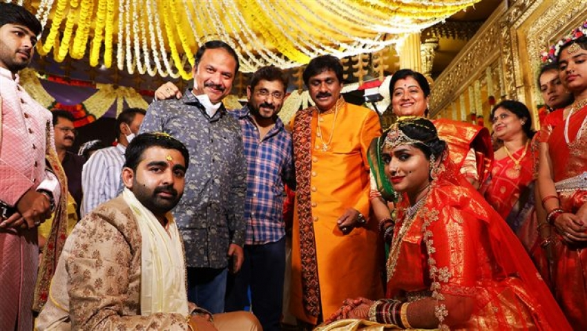 Music Director Raghu Kunche's Daughter Raga Pushyami & Aasish Varma Marriage Photos