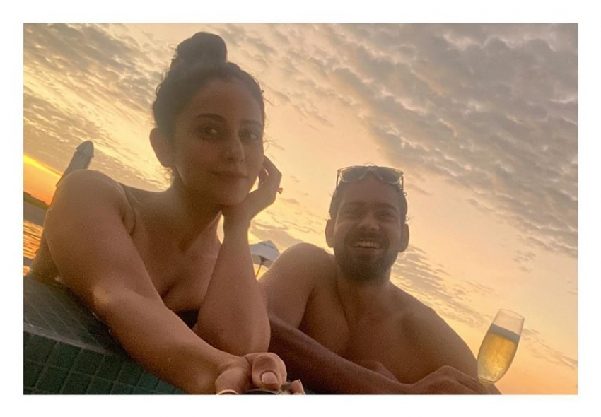 Rakul Preet Singh 2020 South Atoll Dhidhoofinolhu Maldives Vacation Photos