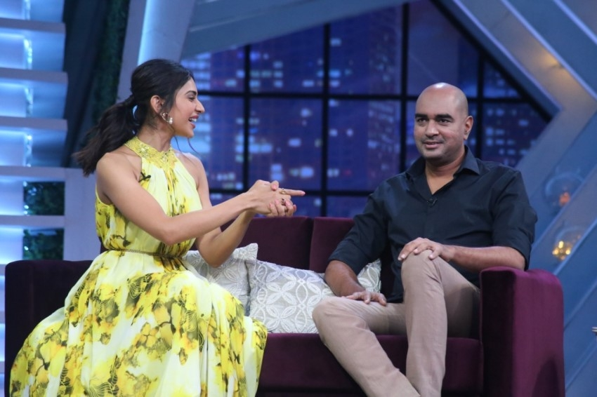 Rakul Preet Singh and Director Krish from the sets of Sam Jam Photos
