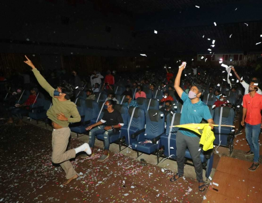 Fans Celebrate Grand  Master Movie Release Photos