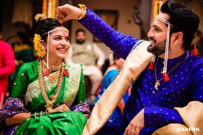 Siddharth Chandekar And Mitali Mayekar Wedding Photos