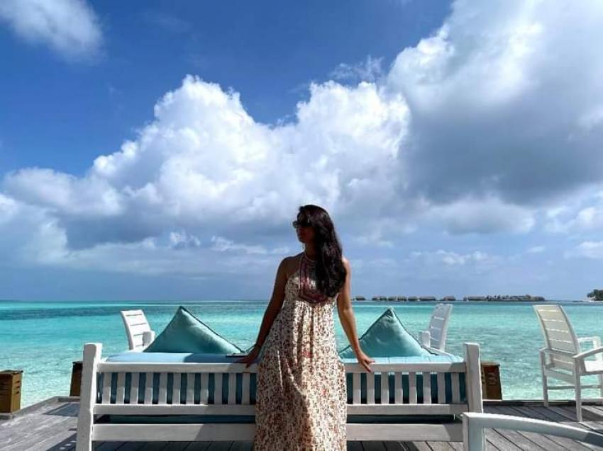 Yash And Radhika Pandit Maldives vacation Photos