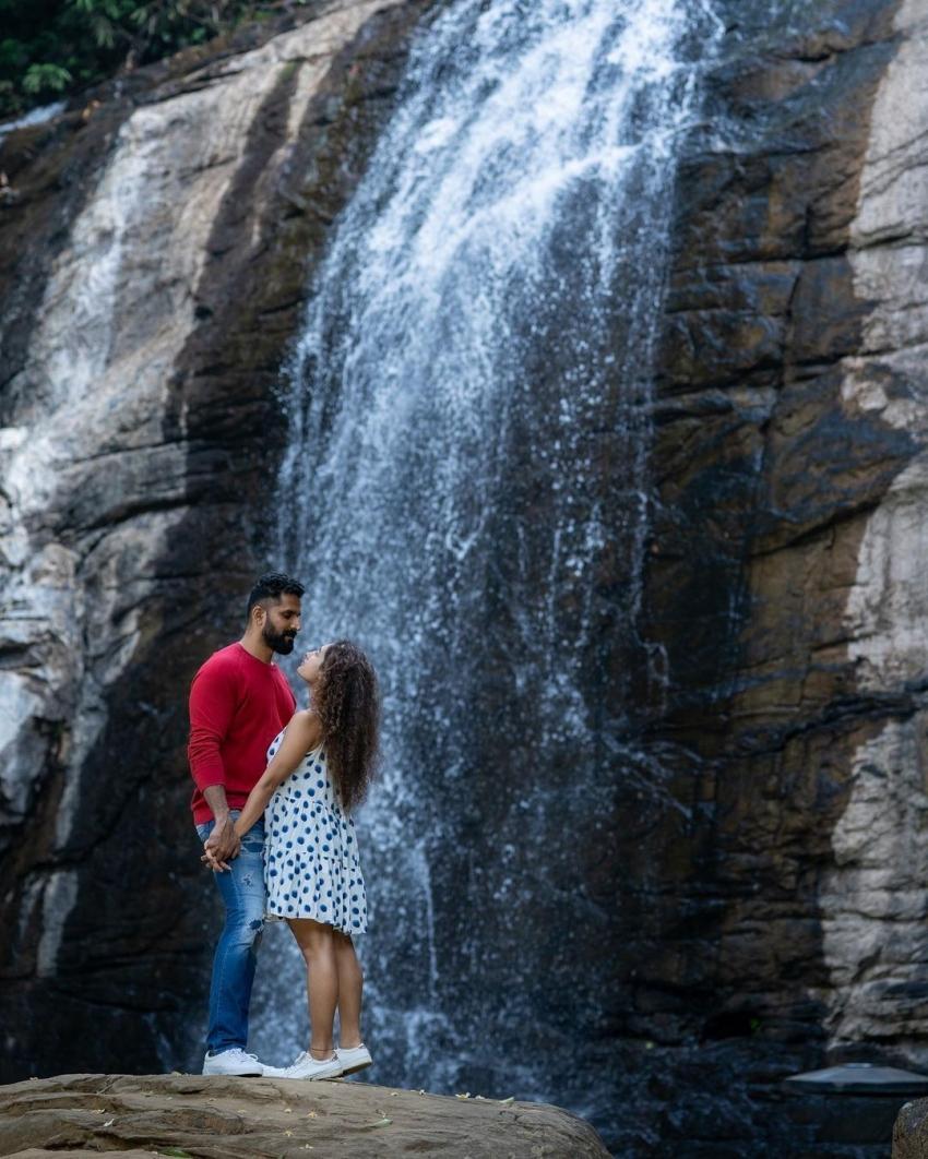 Actor John kokken And Pooja Ramachandran 2021 Romantic Holiday Photos