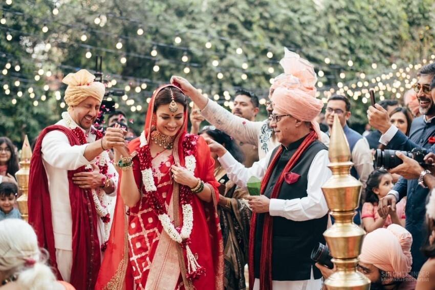 Dia Mirza And Baibhav Rekhi Marriage Photos