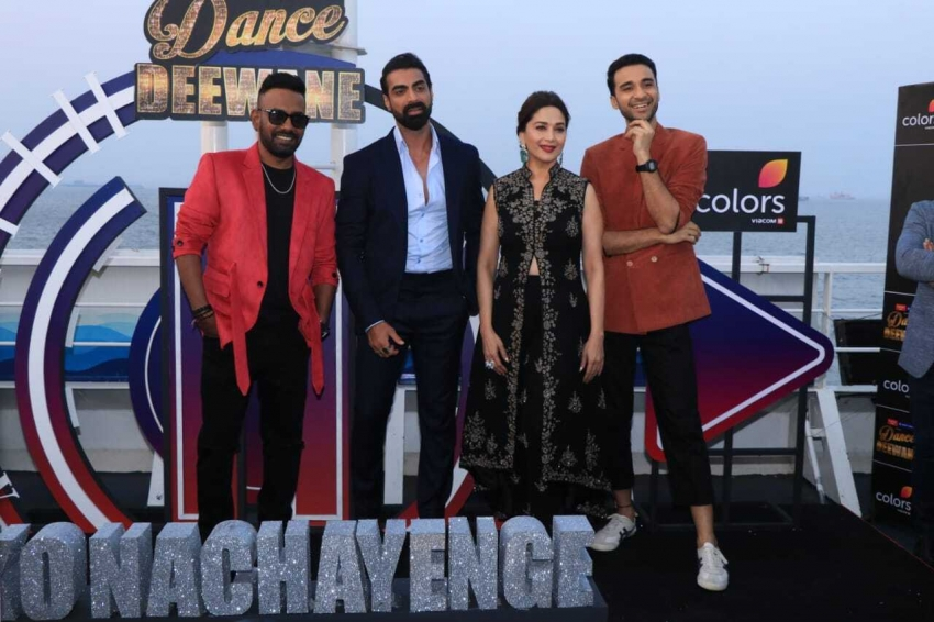 Madhuri Dixit and others celebs at the launch of Dance Deewane Photos